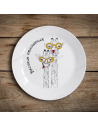 "Plate ""Giraffes - High Relationship"""