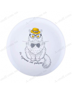 """Plate """"Cat - Do not twist my Faberge"""""""