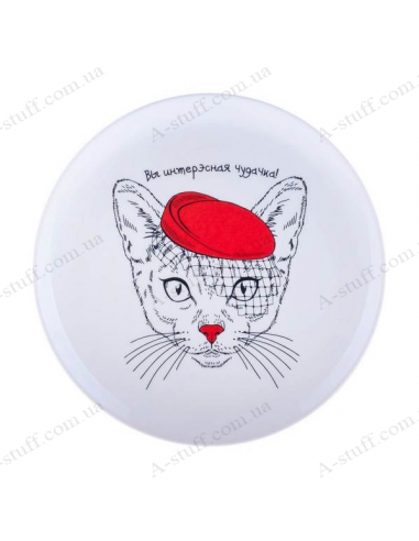 "Plate ""Cat - You are an interesting bizarre"""