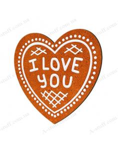"""Дерев'яний магніт """"I love you"""""""