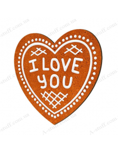 "Wooden magnet ""I love you"""