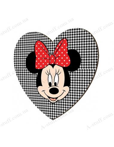 """Деревянный магнит """"Minnie Mouse"""""""