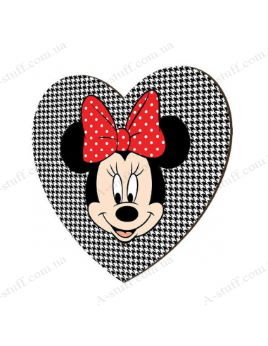 "Wooden magnet ""Minnie Mouse"""