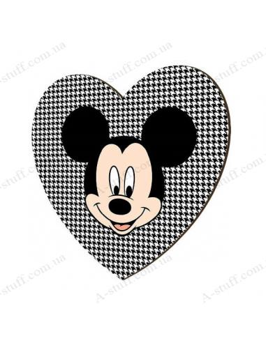 """Дерев'яний магніт """"Mickey Mouse"""""""