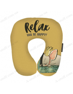 "Pillow for travel ""Relax and be Happy!"""