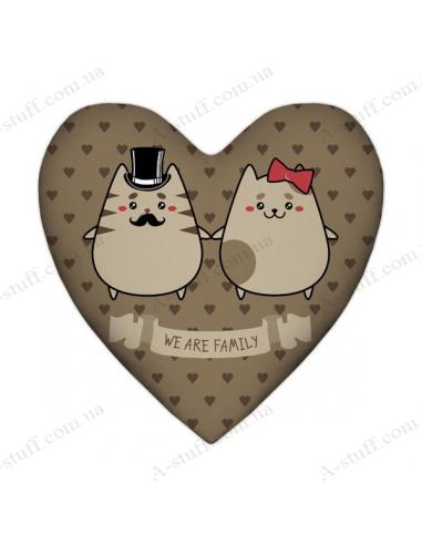 """Декоративна подушка """"We are family"""""""