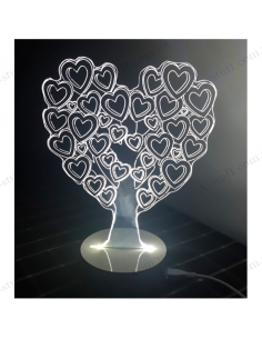 USB Lamp 3D Love Tree