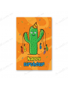 "Postcard ""Happy Birthday"" - cactus"