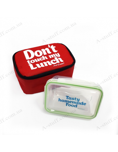 "Mini bag for lunch ""Don't touch my lunch"""