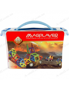 Magnetic constructor MagPlayer (66 elements)