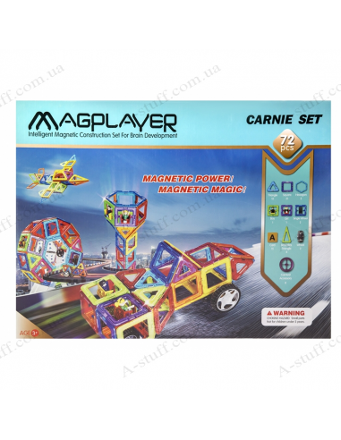 Magnetic Kit MagPlayer (72 elements)