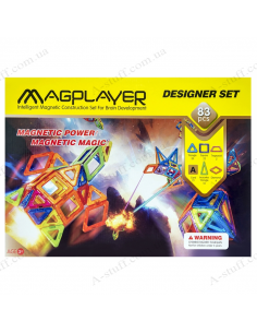 Magnetic Kit MagPlayer (83 elements)