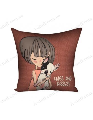"""Подушка декоративна """"Hugs and kisses!"""""""