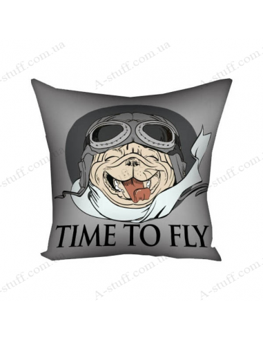 """Pillow decorative """"Time to fly"""""""