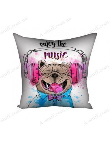 "Pillow decorative ""Enjoy the music"""
