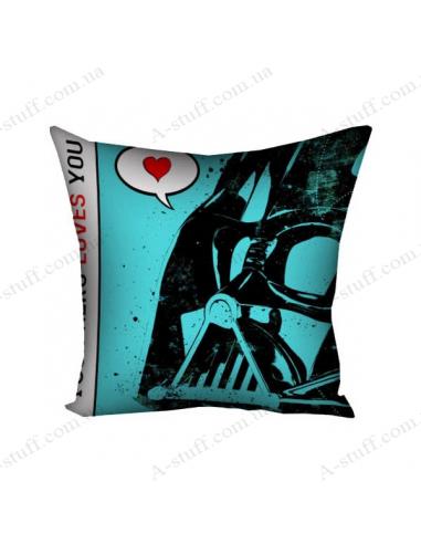 "Pillow decorative ""Darth Vader love"""