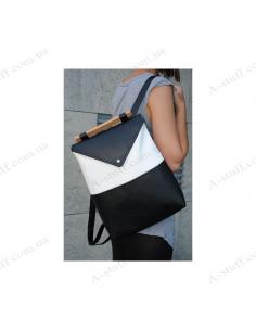 """Жіночий рюкзак """"Black-White"""" чорний з білим"""