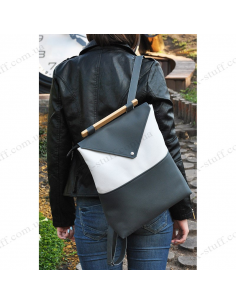 """Women's backpack """"White and Grey"""""""