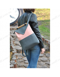 """Women's backpack """"Pink and Grey"""""""