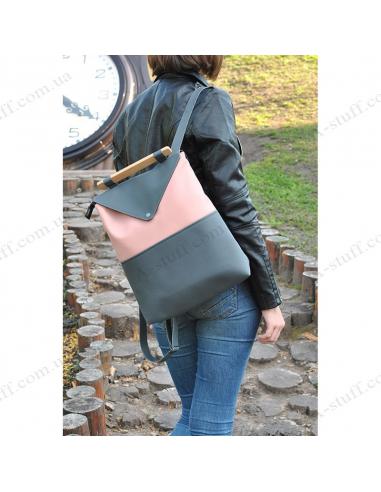 "Жіночий рюкзак ""Pink and Grey"""