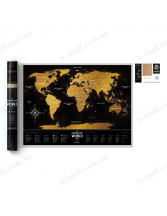 "Scratch Map of the World ""Travel Map Black World"""