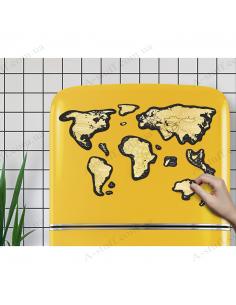 Магнітна скретч карта світу Travel Map MAGNETIC World (англійською мовою)