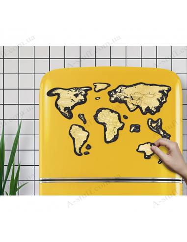 Магнитная скретч карта мира Travel Map MAGNETIC World (на английском языке)