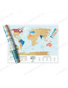 """Скретч карта світу """"Travel Map Holiday Lagoon World"""" (англійською мовою)"""