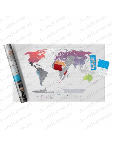 """Скретч карта мира """"Travel Map AIR World"""" (на английском языке)"""