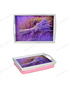 """Tray on a pillow for breakfast """"Lavender"""""""