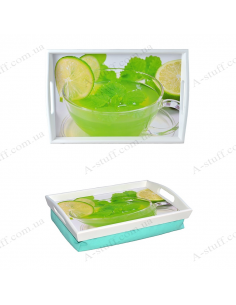 """Tray on a pillow for breakfast """"Drink with lime"""""""
