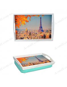 """Таця на подушці для сніданку """"Осінній Париж"""""""