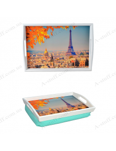"Tray on a pillow for breakfast ""Autumn Paris"""