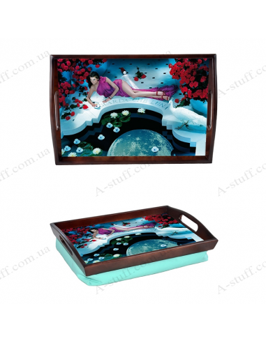 """Tray on a pillow with handles """"Guarda che luna"""""""