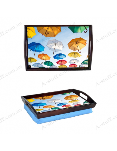 """Tray on a pillow with handles """"Umbrellas"""""""