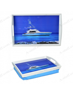 "Tray on a pillow with handles ""Yacht"""