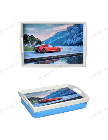 "Tray on a pillow with handles ""Aston Martin"""