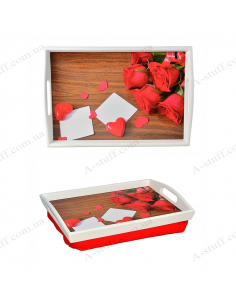 """Tray on a pillow with handles """"Romance"""""""