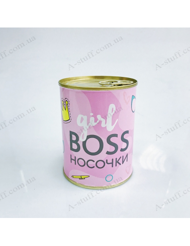 """Носки в консервной банке """"Girl boss"""""""
