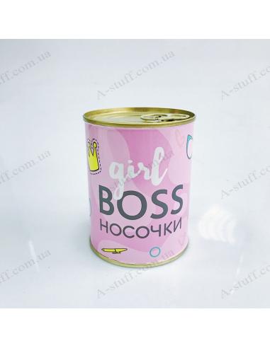"""Шкарпетки у консервній банці """"Girl boss"""""""