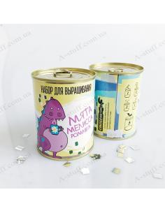 """Canned plant """"Mint, lemon balm, chamomile"""""""