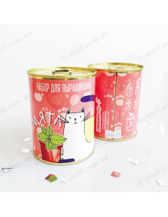 """Plant in a tin can """"Mint"""""""