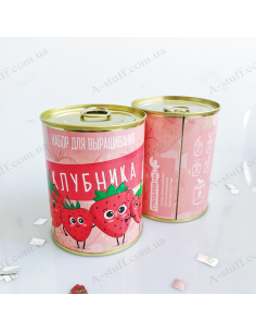 """Plant in a tin can """"Strawberry"""""""