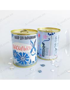 """Растение в консервной банке """"Васильки"""""""