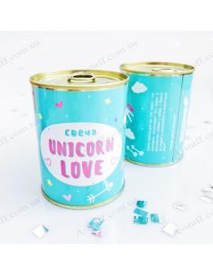 """Консерва - свічка """"Unicorn love"""""""