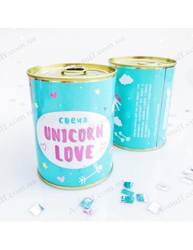 """Консерва - свеча """"Unicorn love"""""""