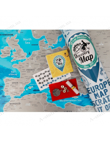Discovery Map Europe scratch map of Europe