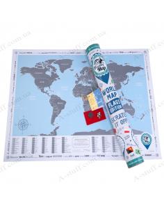 Discovery Map Flags Edition (карта світу англ. мовою з прапорами)