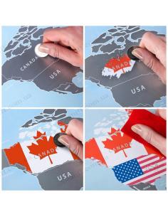 Discovery Map World Flags Edition (карта світу англ. мовою з прапорами)