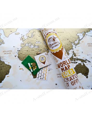 Discovery Map World Gold (англ. мовою)
